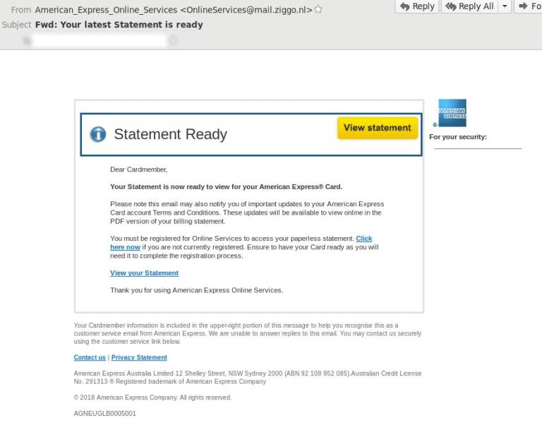 American Express – Fake Invitation Request